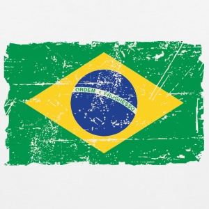 Brazil Flag - Vintage Look T-Shirts - Men's Premium Tank