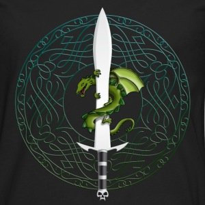 dragon_sword_and_viking_tribal_a Kids' Shirts - Men's Premium Long Sleeve T-Shirt