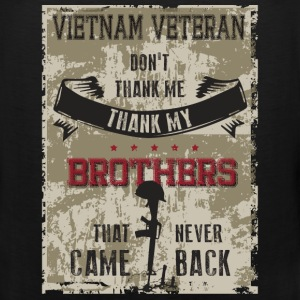 Veterans T-shirt - Thank my brothers - Men's Premium Tank