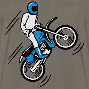 Motocross terrain race motorbike T-Shirts - Men's Premium Long Sleeve T-Shirt