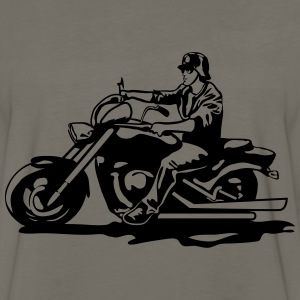Motorcycle chopper cool steel helmet T-Shirts - Men's Premium Long Sleeve T-Shirt