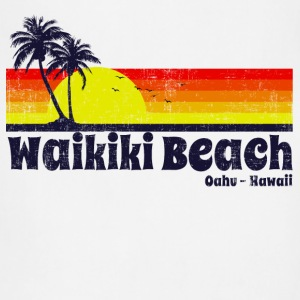 Waikiki Beach Hawaii Women's T-Shirts - Adjustable Apron