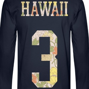 HAWAII 3 FLORAL SHABBY HOODIE - Men's Long Sleeve T-Shirt