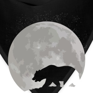 California Bear and Moon - Bandana