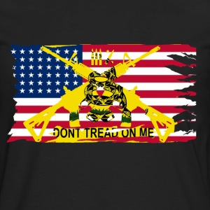Men's Worn American Flag with Don't Tread On Me Ga - Men's Premium Long Sleeve T-Shirt