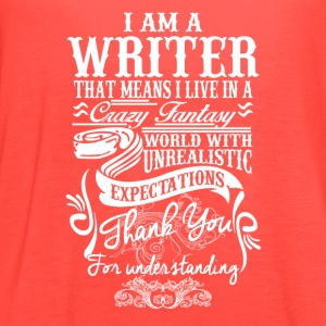 I Am A Writer - Women's Flowy Tank Top by Bella
