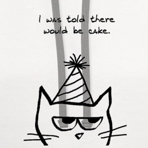 Angry Cat Hates Birthdays - Contrast Hoodie