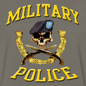 Military Police Skull w Beret - Men's Premium Long Sleeve T-Shirt