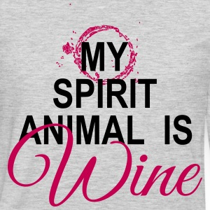 Wine is My Spirit Animal T-Shirts - Men's Premium Long Sleeve T-Shirt