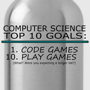 Computer Science Top 10 List T-Shirts - Water Bottle