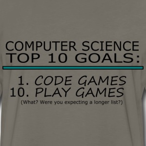Computer Science Top 10 List T-Shirts - Men's Premium Long Sleeve T-Shirt