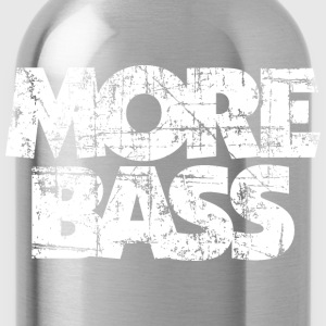 More Bass T-Shirt (Black/White Vintage) - Water Bottle