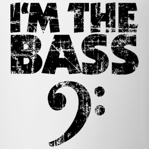 I'm the Bass Clef T-Shirt (White/Black Vintage) - Coffee/Tea Mug
