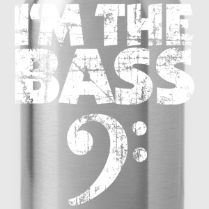 I'm the Bass Clef T-Shirt (Black/White Vintage) - Water Bottle