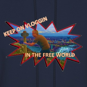 Keep On Vlogging In The Free World - Men's Hoodie
