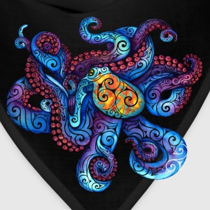 Swirly Octopus Women's T-Shirts - Bandana