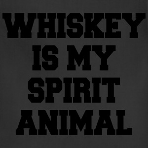 Whiskey Is My Spirit Animal Women's T-Shirts - Adjustable Apron