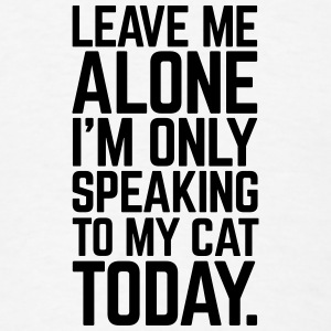 Only Speaking To My Cat Buttons - Men's T-Shirt