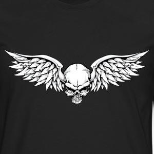 Winged Skull T-Shirts - Men's Premium Long Sleeve T-Shirt