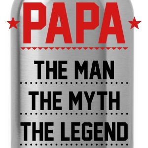 Papa T-Shirt - Papa - The Man The Myth The Legend - Water Bottle