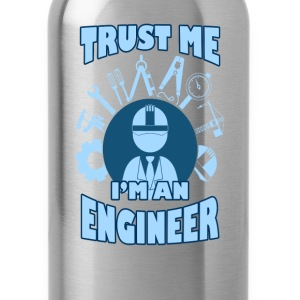 Engineer T-shirt - Trust me I'm an engineer - Water Bottle