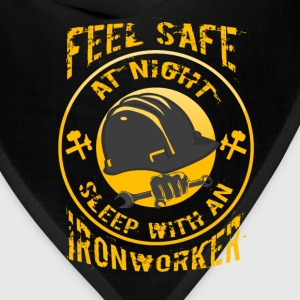 Ironworker T-shirt - Feel safe with an ironworker - Bandana