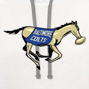 Baltimore Colts Horse with ball - Contrast Hoodie