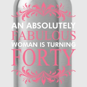 An Absolutely Fabulous Woman Is Turning Forty - Water Bottle