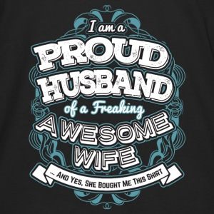 I Am A Proud Husband Of A Freaking Wife - Men's Premium Long Sleeve T-Shirt