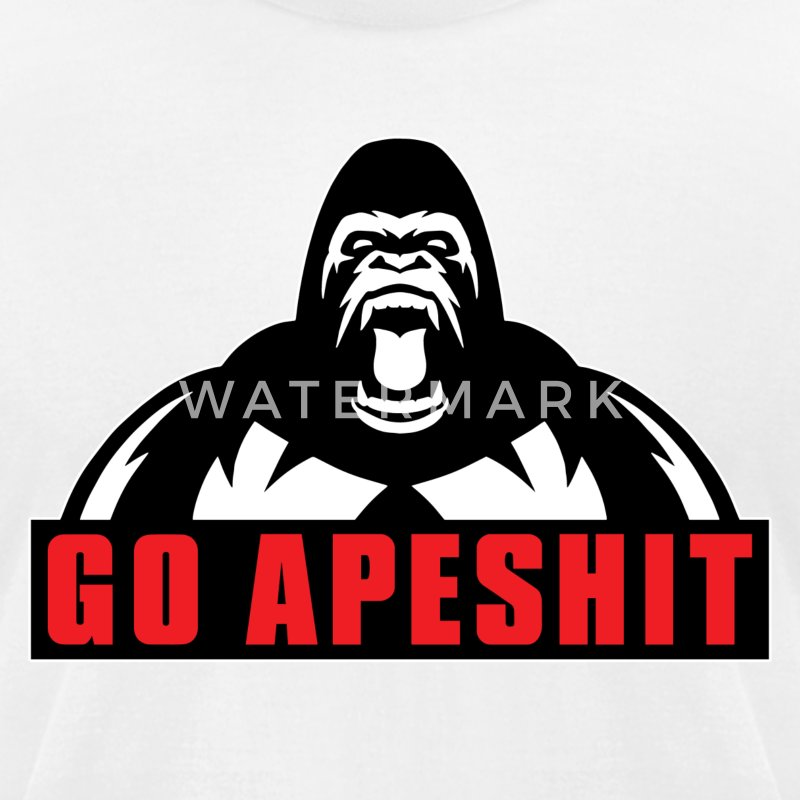 Go Apeshit - Gorilla T-Shirts - Men's T-Shirt by American Apparel