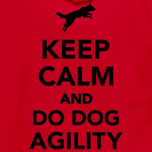 Keep calm and do dog agility Women's T-Shirts - Unisex Fleece Zip Hoodie by American Apparel