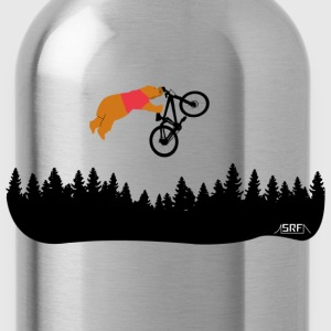 bear cub on bike T-Shirts - Water Bottle
