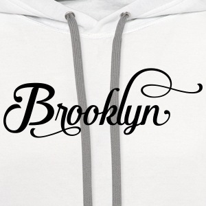 brooklyn typography Polo Shirts - Contrast Hoodie