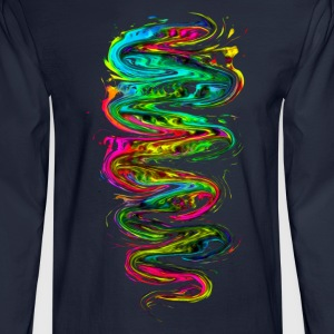 Color your life! Rainbow, Music, Trance, Techno,  T-Shirts - Men's Long Sleeve T-Shirt