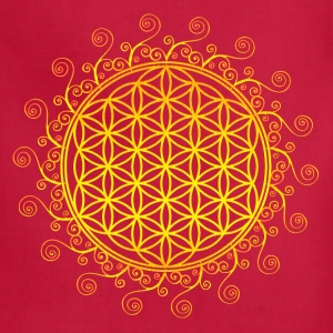 FLOWER OF LIFE, SPIRITUAL SYMBOL, SACRED GEOMETRY Women's T-Shirts - Adjustable Apron