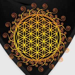 FLOWER OF LIFE, SPIRITUAL SYMBOL, SACRED GEOMETRY Women's T-Shirts - Bandana