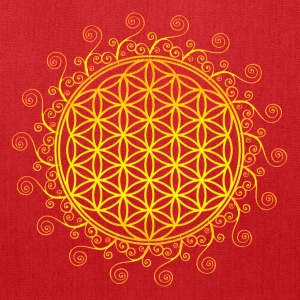 FLOWER OF LIFE, SPIRITUAL SYMBOL, SACRED GEOMETRY Women's T-Shirts - Tote Bag