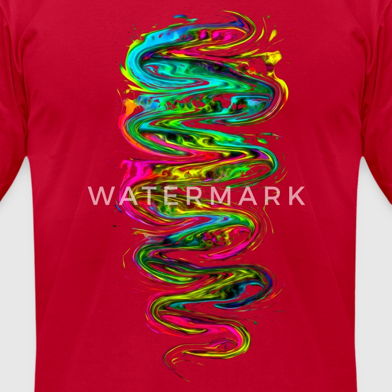 Color your life! Rainbow, Music, Trance, Techno,  T-Shirts - Men's T-Shirt by American Apparel