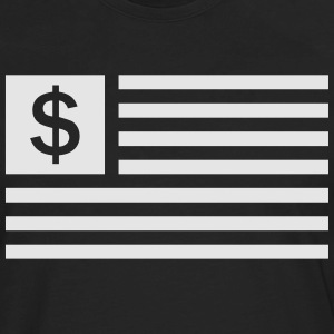 American Dollar Sign Flag T-Shirts - Men's Premium Long Sleeve T-Shirt