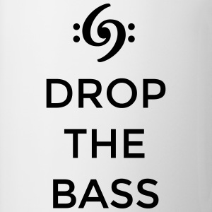 Drop the Bass T-Shirt (Men White/Black) - Coffee/Tea Mug