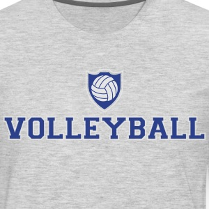 Volleyball and shield T-Shirts - Men's Premium Long Sleeve T-Shirt
