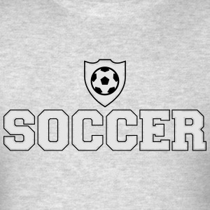 Soccer and shield Hoodies - Men's T-Shirt