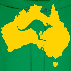 Australia with kangaroo Shirt - Men's Hoodie