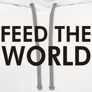 Feed the world - Contrast Hoodie