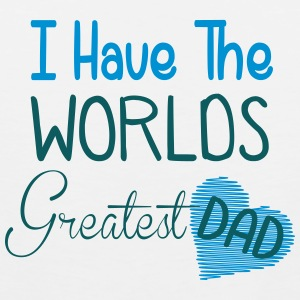 i have the world's greatest dad Kids' Shirts - Men's Premium Tank