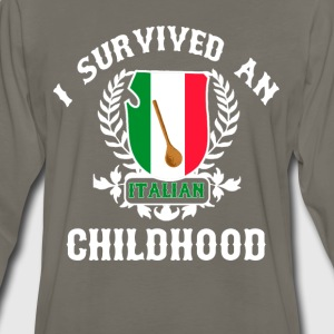Italian Childhood T-Shirts - Men's Premium Long Sleeve T-Shirt