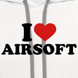 I love Airsoft T-Shirts - Contrast Hoodie