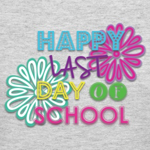 Girls Happy Last Day of School Ruffle T Shirt - Women's Long Sleeve Jersey T-Shirt