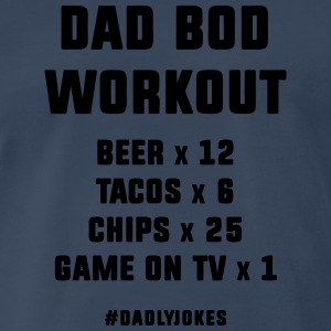 Dad Bod Workout Tank Tops - Men's Premium T-Shirt