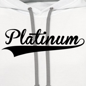 Platinum Culture White Tee - Contrast Hoodie